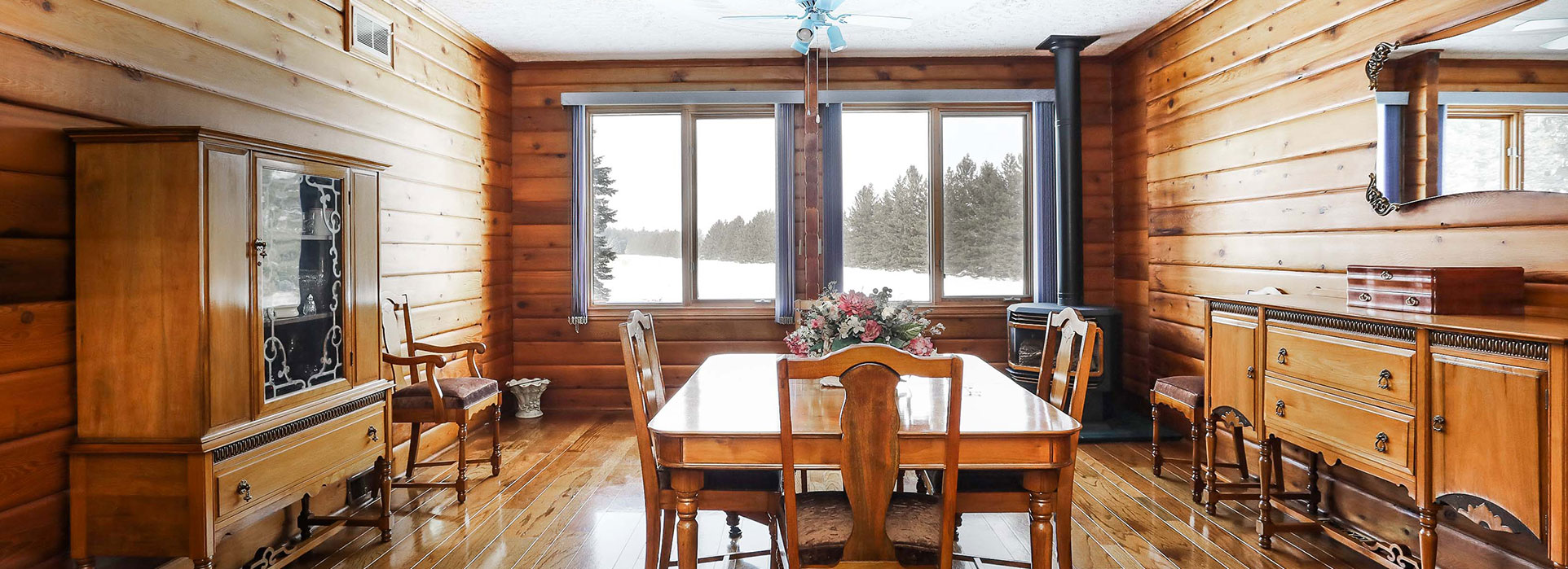 5870 Concession 2 - Dining Room & Big Windows - Cripps Realty