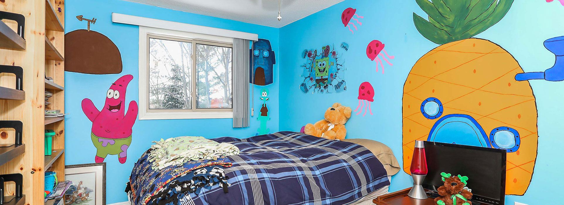 6 Evergreen Court - Sponge bob themed Kids room - Cripps Realty